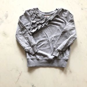 Other - Gray ruffled sweater